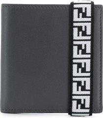 fendi ff elasticated strap wallet - grey