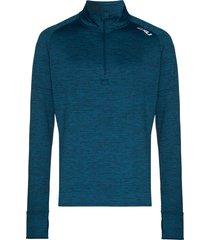 2xu pursuit thermal half-zip t-shirt - blue