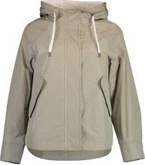 taffeta hooded rain jacket