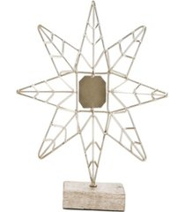 mind reader decorative iron star with wood base accent decor piece