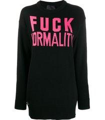 philipp plein statement pullover sweatshirt - black