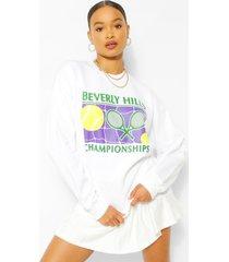 beverley hills tennis sweater, white