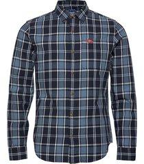 sun faded lumberjack shirt skjorta casual blå superdry