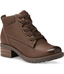 eastland bandana lace-up boots women's shoes