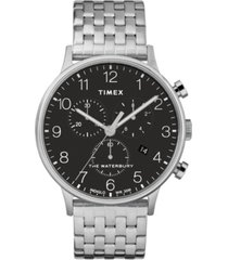 timex waterbury classic chronograph 40mm stainless steel case and bracelet watch