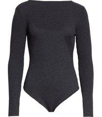women's jacquemus adour ribbed wool blend bodysuit