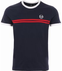 sergio tacchini supermac 3 archivo t-shirt - navy & red 36640