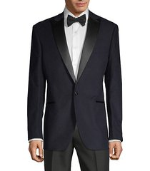 standard-fit cotton-blend tuxedo jacket