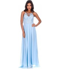 ax paris mesh embroidery maxi dress