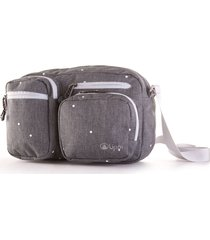 bolso route bag estampado gris melange large lippi