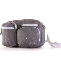 bolso route bag estampado gris melange large lippi