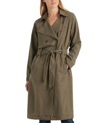 lucky brand relaxed trench coat