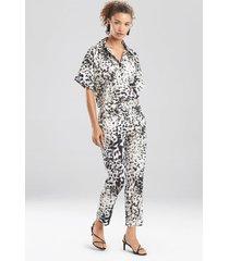 natori ombre animale, cotton poplin pants, women's, size 2