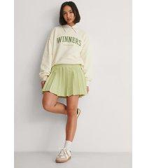 na-kd classic veckad kjol - green