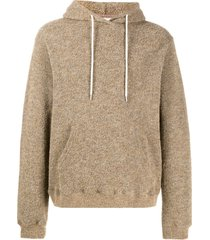john elliott boucle beach hoodie - brown