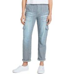 dickies juniors' striped cuffed cargo pants