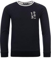 common heroes navy sweater reliëf voor jongens in de kleur