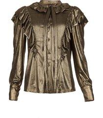 blouse gowly  metallic