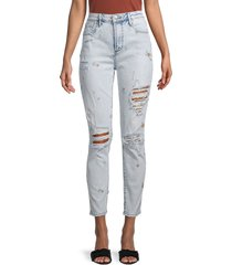 driftwood women's gizelle distressed ankle jeans - acid - size 24 (0)