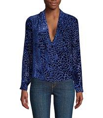 lydia leopard burnout blouse