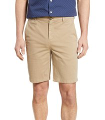 men's johnnie-o neal stretch twill shorts, size 32 - beige