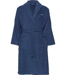 organic terry bathrobe morgonrock badrock blå gant