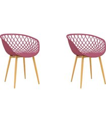 conjunto 02 cadeiras clarice cereja