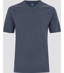 t-shirt i bomull - metallblå