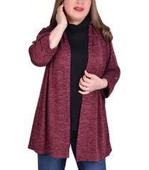 ny collection women's plus size 3/4 sleeve cardigan