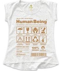 camiseta t-shirt cool tees seres humanos feminina - feminino