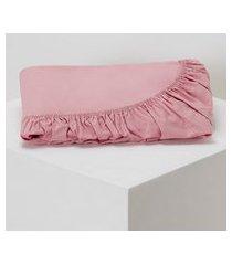 amaro feminino lençol com elástico casal, rosa queimado