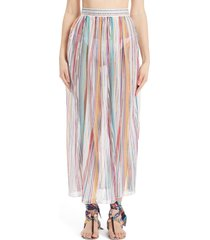 missoni space dye stripe cover-up skirt, size 10 us in multicolor at nordstrom