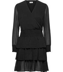 flame dress jurk knielengte zwart modström