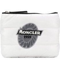 moncler padded clutch - white