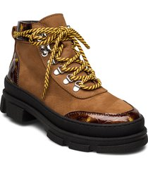 vandogz boots ms20 shoes boots ankle boots ankle boot - heel brun gestuz