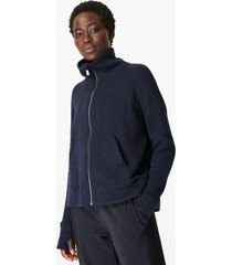 restful boucle zip through jumper