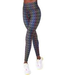 women's terez rainbow stripe high waist leggings, size small - black
