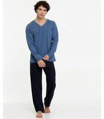 pijama masculino manga longa lupo