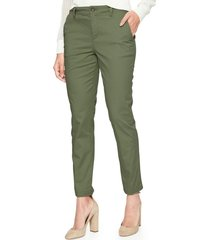 pantalon girlfriend khaki mujer verde gap