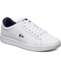 carnaby evo tri 1sfa låga sneakers vit lacoste shoes