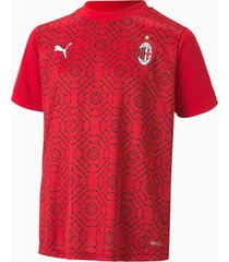 ac milan stadium shirt jongeren, zwart/rood, maat 164 | puma