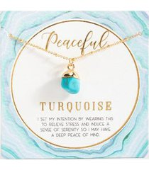 abundant adventure power stone necklace - turquoise