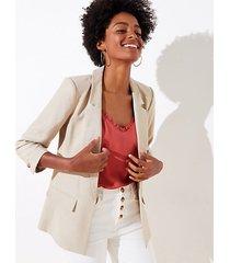 loft petite 3/4 sleeve open blazer