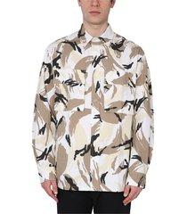 camoflauge print shirt