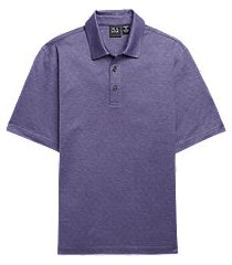 traveler performance traditional fit short sleeve men's polo shirt