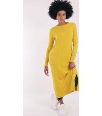 vestido lana sofie mostaza night concept