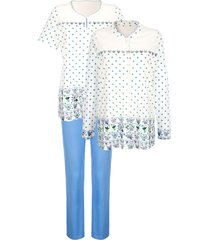 3-delige pyjama harmony ecru::lichtblauw