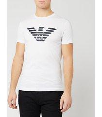 emporio armani men's large eagle logo t-shirt - white - xxl