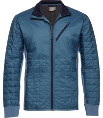 mens helix ls zip outerwear sport jackets blauw icebreaker