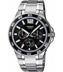 reloj casio mtp-1300d-1a-gris